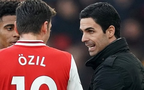Mesut Ozil needs support of his team-mates if he is to thrive, says Arsenal head coach Mikel Arteta