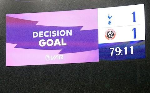 Sheffield United bounce back from VAR setback to grab equaliser at Spurs