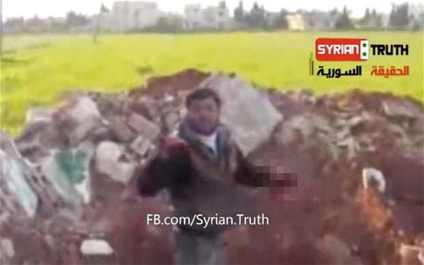 Syrian rebels vow to punish militant who 'ate dead soldier's organs in online video'