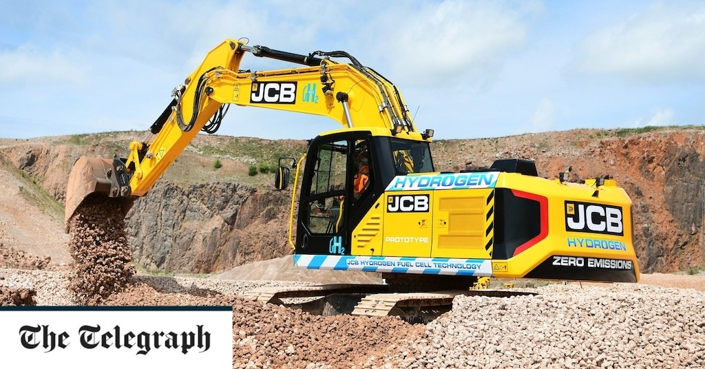 JCB tests the world's first hydrogen-powered digger