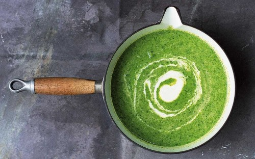 Amelia Freer's super green soup with cashew cream