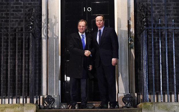 Britain heading for June EU referendum as David Cameron is offered 'red card' to block EU laws