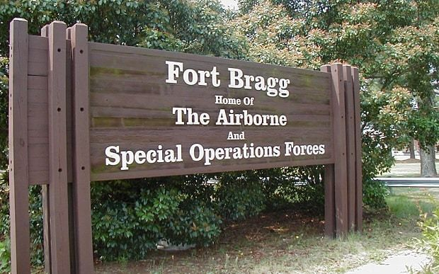 Fort Bragg military base placed on alert after soldier dressed as suicide bomber for Halloween