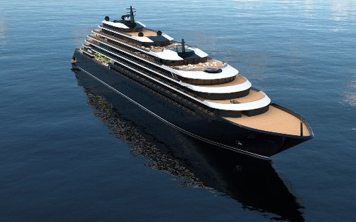 Ritz-Carlton's first luxury cruise ship takes to the water
