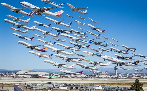 'Aviation dork' captures a day's worth of planes in single photo