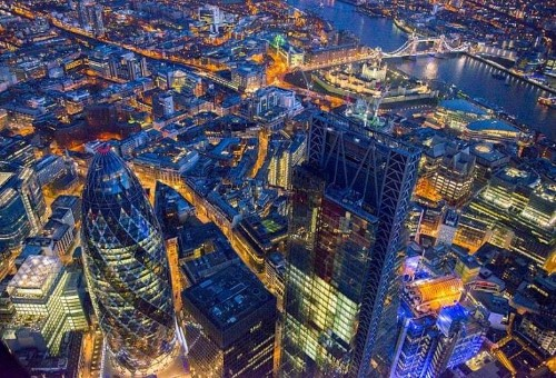 Jason Hawkes documents the ever-changing London skyline at the start of 2014 - Telegraph