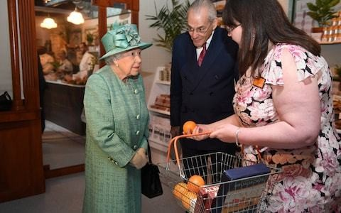 'You can't cheat then?' Queen asks, as she learns to use self-service Sainsbury's check out