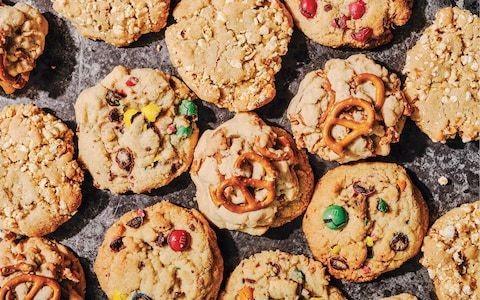 Cupboard cookies with pretzels and popcorn recipe