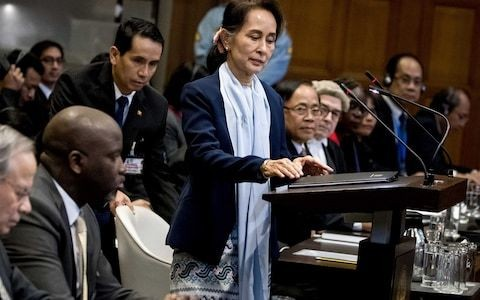 Aung San Suu Kyi denies military acted with 'genocidal intent' against Rohingya