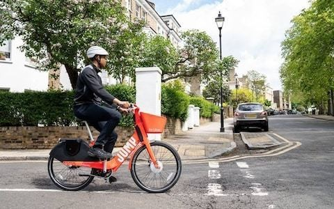 Uber launches app-based electric 'Jump' bikes on the streets of London