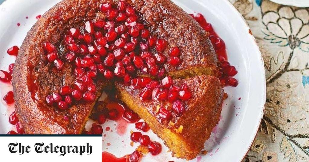 Orange and pomegranate cake recipe