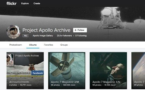 Thousands of photographs from Nasa's Apollo missions uploaded to Flickr