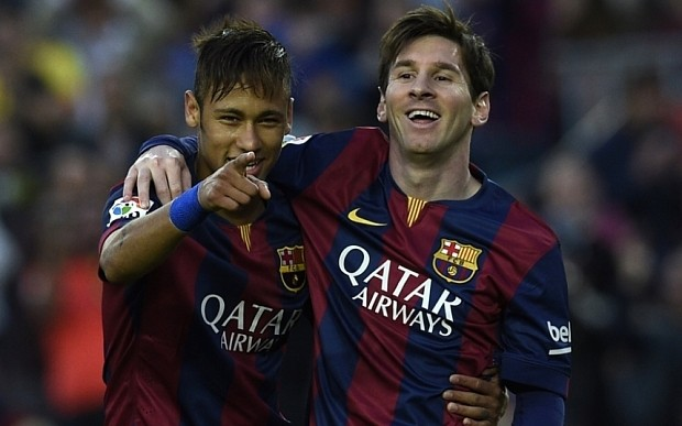 Barcelona's Neymar 'learning from my hero Lionel Messi every day'