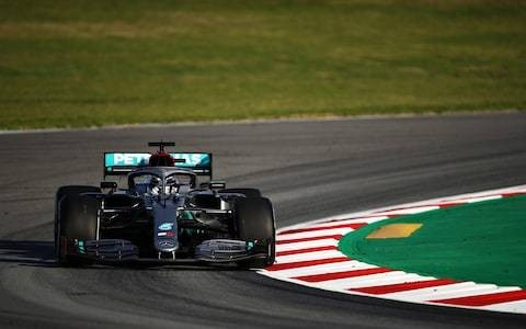 Lewis Hamilton ends day one of F1 pre-season testing fastest as Mercedes rack up the miles