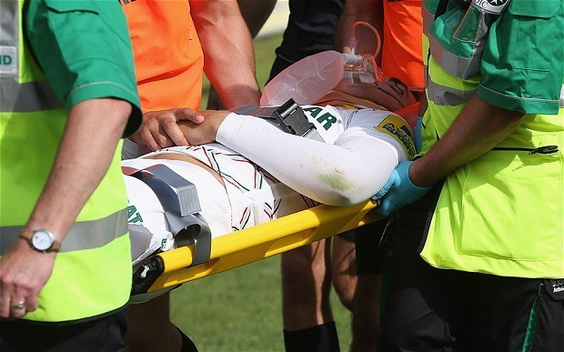 Toby Flood taken to hospital with neck injury following serious foul play from Ulster's Dan Tuohy