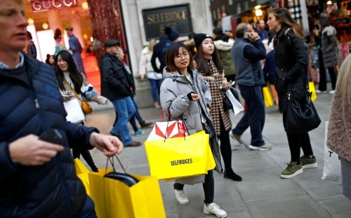 Shoppers defy Brexit turmoil to use newfound spending power