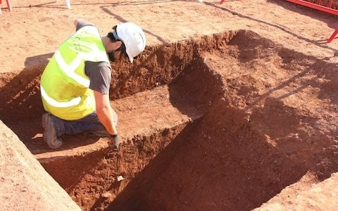 Roman fort discovered by workmen building new bus station in Exeter