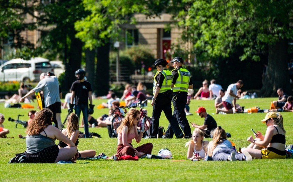 Scots bask in new freedoms as lockdown eases on on hottest day of the year