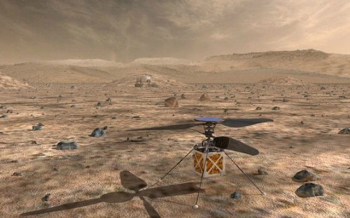 Nasa is sending a helicopter to search the skies over Mars