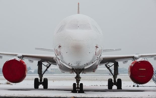 Ryanair's ground crew make lewd picture in the snow