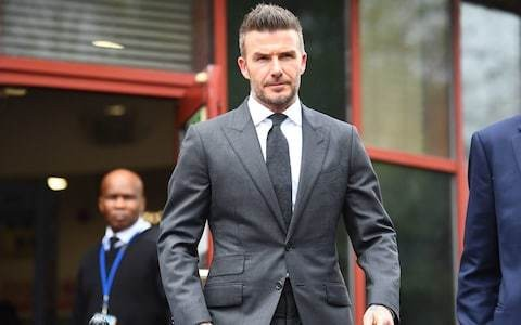 David Beckham banned from driving for six months after using mobile phone whilst driving Bentley through West End