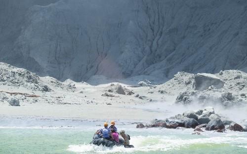 New Zealand volcano eruption in pictures