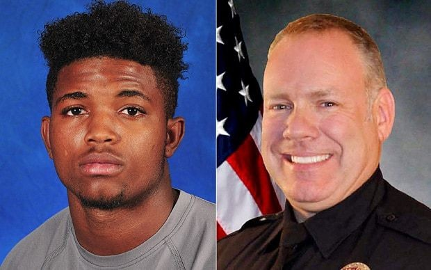 Black American football player killed by white police officer in Texas