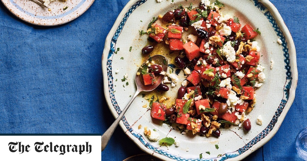 Watermelon, feta and olive salad recipe