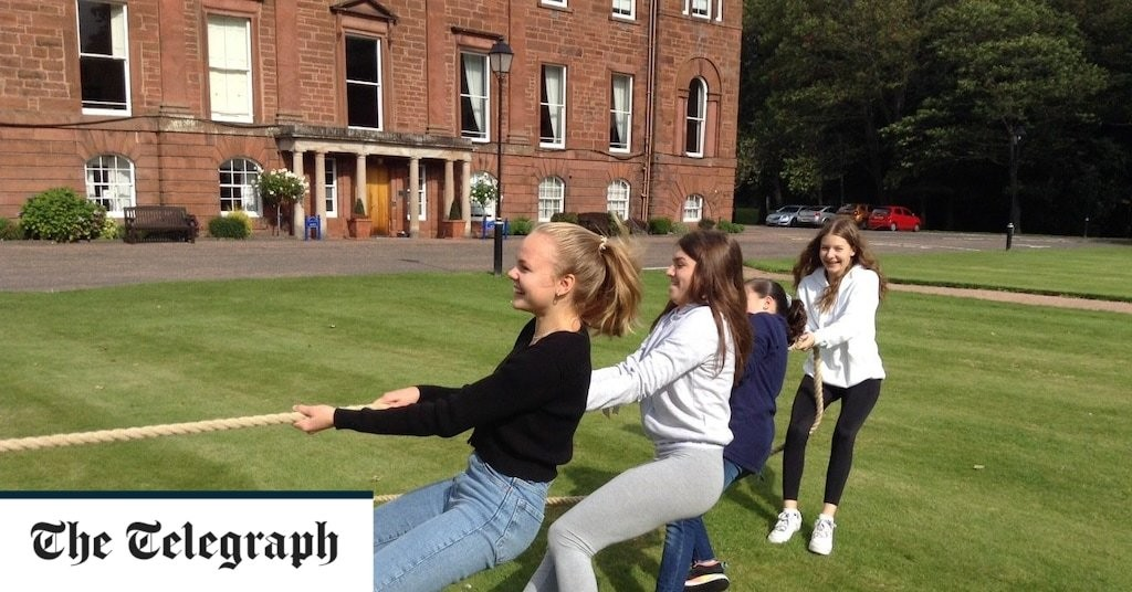 Playground games of the past return at boarding school after shopping trips axed due to Covid