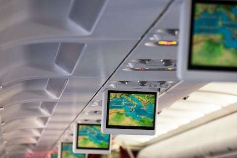 Why do shipwrecks appear on in-flight maps?