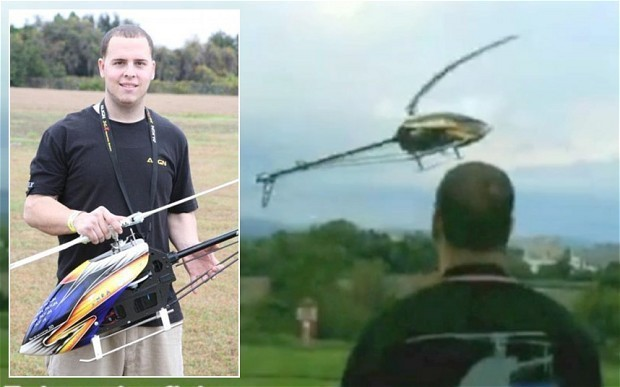 Remote-controlled helicopter kills man