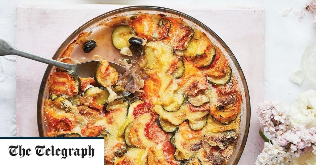 Puttanesca-style tomato gratin recipe