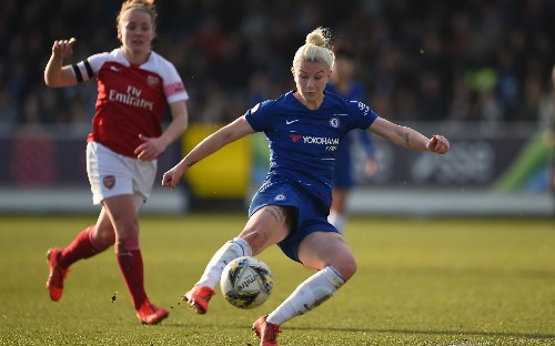 Bethany England scores twice as holders Chelsea beat Arsenal to reach Women's FA Cup quarter-finals
