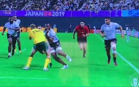 Jonathan Kaplan's referee's view: I have no idea why Australia's Reece Hodge was not red-carded for Peceli Yato tackle