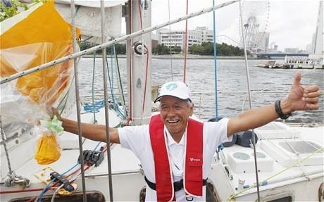 World's oldest sailor arrives home in Japan after solo journey around globe