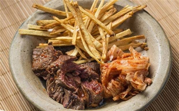 Korean steak and chips
