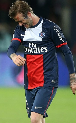 David Beckham, PSG's captain for his final match, bows out as a winner