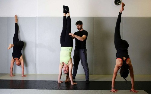 Why handstands are the ideal exercise class – even if, like me, you're not very good