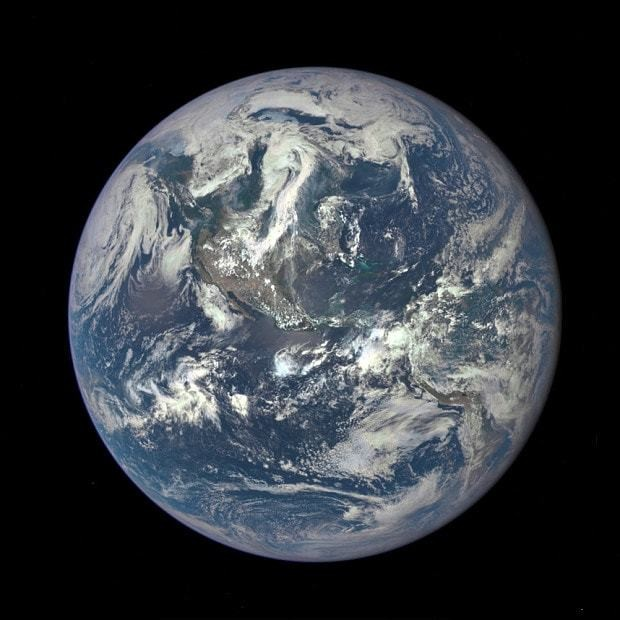 Nasa releases amazing high-resolution picture of sunlit Earth from one million miles away