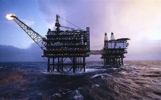 North Sea faces record fall in oil and gas production