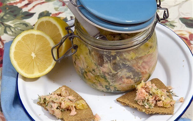 Picnic recipe: potted salmon and shrimps