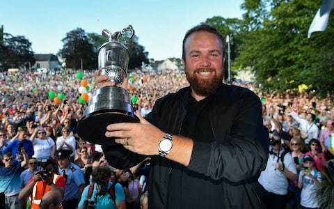 Rapturous homecoming for Shane Lowry as Open champion given rock star treatment alongside grandmother