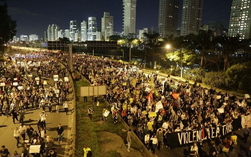 Protesters flood Brazilian cities over World Cup spending