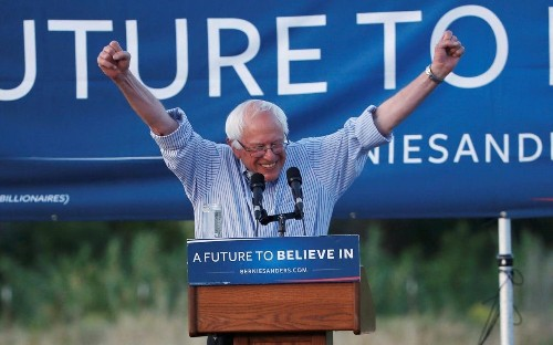 Bernie Sanders vows to work with Hillary Clinton to defeat Donald Trump