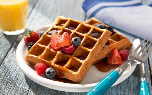 Brilliant breakfast waffles