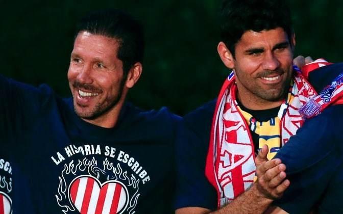 Diego Costa enjoys reunion dinner with Atletico Madrid manager Diego Simeone