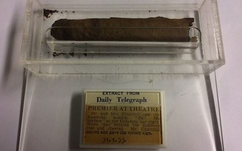Winston Churchill's partially smoked cigar picked up off the floor by usherette in 1953 to be auctioned