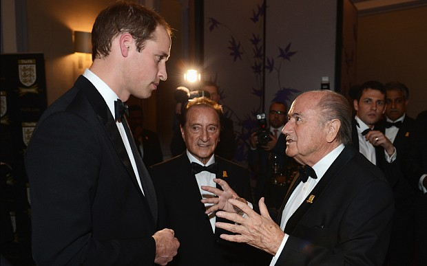 Prince William to Fifa: 'tackle corruption and put sport first'