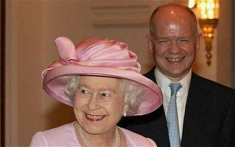 The Queen summons William Hague to Buckingham Palace