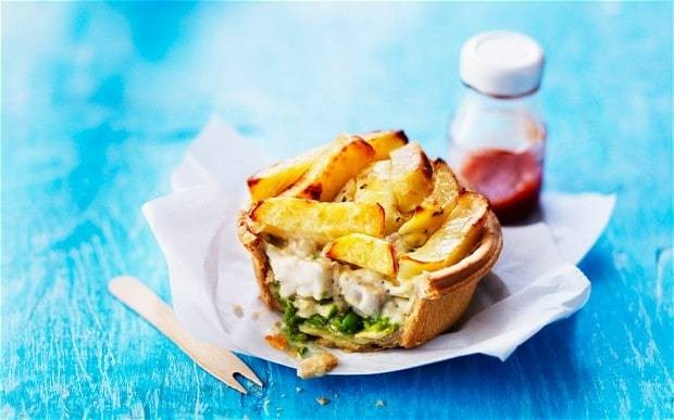 Oh my cod! Fish and Chips in a pie